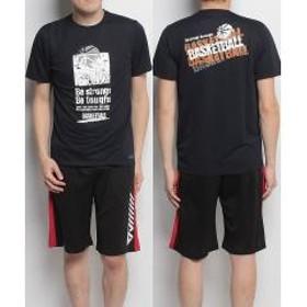(セール)s.a.gear(エスエーギア)バスケットボール メンズ 半袖Tシャツ 半袖グラフィックTEE BE STRONG SA-S18-103-001 メンズ ネイビー