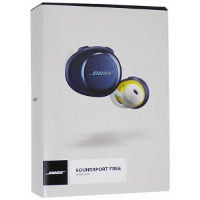 【中古】送料無料 ボーズ BOSE SoundSport Free wireless headphones ミッドナイトブルー×イエローシトロン 元箱あり ブラック SoundSpo