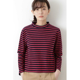 【SALE(伊勢丹)】<HUMAN WOMAN/ヒューマンウーマン> ◆変形鹿の子ボーダーカットソー(0779160103) ピンク 【三越・伊勢丹/公式】
