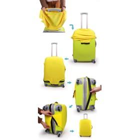 トラベルバッグ - PlusNao スーツケースカバー キャリーバッグカバー キャリーケースカバー ラゲッジカバー 保護カバー キャンディカラー シンプル 無地 S ML