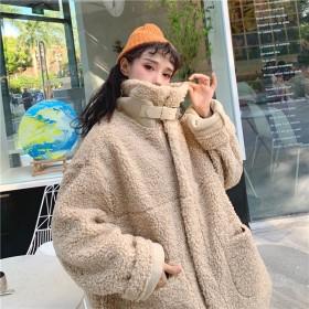 限定発売 高品質で 韓国ファッション/CHIC気質/大人気/おしゃれな/カジュアル/暖かい/厚手/子羊の毛/コート