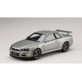 ホビージャパン 1/18 ニッサン スカイライン GT-R V・スペック 1999 (BNR34) ソニックシルバー(M)【HJ1809S】ミニカー 【返品種別B】