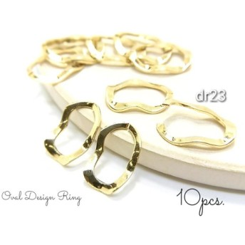 10個☆銅製☆デザインカンオーバルリング【dr23】-