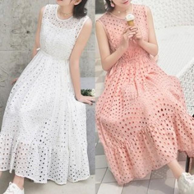 ワンピースドレス 大きいサイズ レディース ワンピース  お呼ばれ 20代 30代 40代  ノースリーブ  可愛い デイリールック 大人 お出かけ