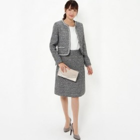 フォーマル レディース スーツ 3点セットセレモニースーツ【ジャケット+2スカート】【9AR〜17AR】 「ネイビー」