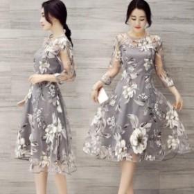 半袖 ドレス 二次会 ドレス 半袖 花嫁 二次会 ドレス 半袖 結婚式 パーティードレス ワンピース 袖あり 結婚式ドレス kh_0058