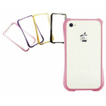 iPhone4 4s対応 カラフル ポップ バンパーケース 4色 アイフォンケース