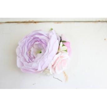 オールドローズのコサージュ うす紫★