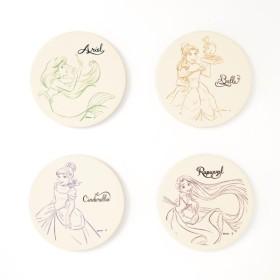 コースター ディズニー 吸水 セラミック 4枚 セット ディズニー プリンセス