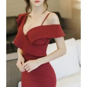 結婚式のドレス パーティードレス 結婚式ドレス 袖あり ワンピース ミモレ丈 ワンピース 半袖 お呼ばれ 二次会 fe-0043