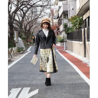プリーツスカート - Libby & Rose チェーン柄プリーツスカート