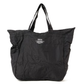 SOLEIL / SOLEIL AIR NEW ポケッタブル ナイロン トートバッグ(15L) メンズ トートバッグ BLACK ONE SIZE