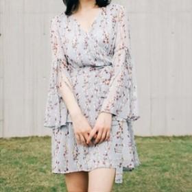 結婚式 パーティードレス 袖あり 大きいサイズ ロング 袖付きドレス 袖ありドレス 長袖ドレス ロングドレス ミニドレス fe-0435