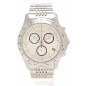 012e117cb93b GUCCI グッチ Gタイムレスクロノ 腕時計 メンズ クオーツ SS シルバー ゴールド文字盤 YA126255 126.2 メンズ