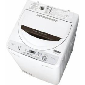 シャープ ES-GE4C-T 全自動洗濯機 4.5kg ブラウン系 (ESGE4CT)