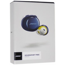 【中古】送料無料 ボーズ BOSE SoundSport Free wireless headphones ミッドナイトブルー×イエローシトロン 並行輸入品 元箱あり インナ