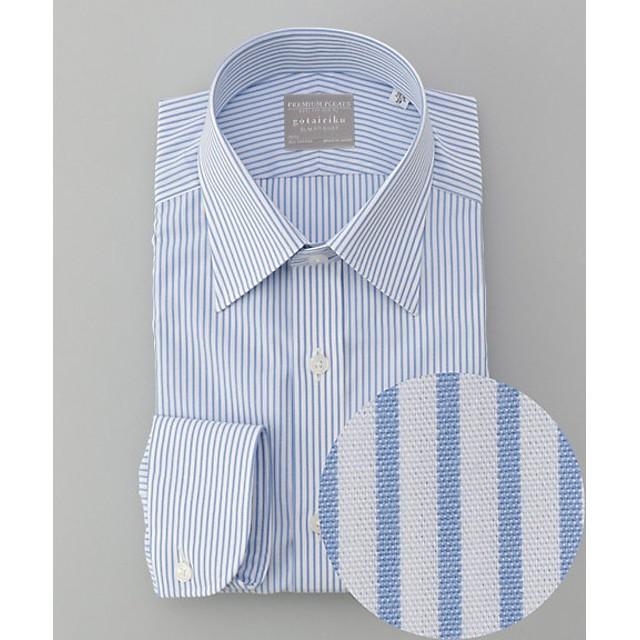【SALE(三越)】<五大陸/gotairiku> PREMIUMPLEATS ドレスシャツ(HDGOKM0315) サックス【三越・伊勢丹/公式】