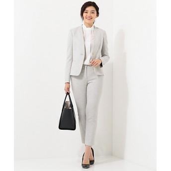 【SALE(三越)】【送料無料】<ICB 大きいサイズ> 大きいサイズ Silk Nep Tweed パンツ(PRCMKS0110) ライトグレー 【三越・伊勢丹/公式】