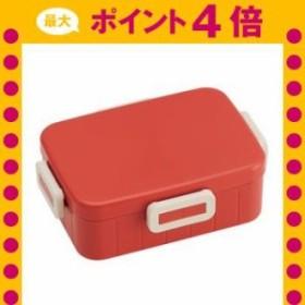 お弁当箱 4点ロックランチボックス 1段 レトロフレンチカラー 650ml オレンジ YZFL7  [01]