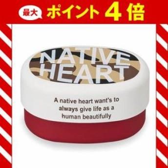 オーバルコンパクトランチ 迷彩 2段 620ml ホワイト Native Heart [01]
