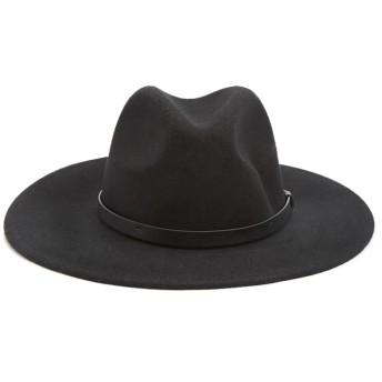 帽子全般 - FOREVER 21 【WOMEN】 【ウールフェドラハット】 帽子 赤 レッド 黒 ブラック