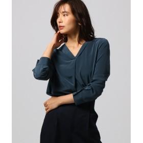 UNTITLED(アンタイトル) [L]【洗える】デシンVシャツ