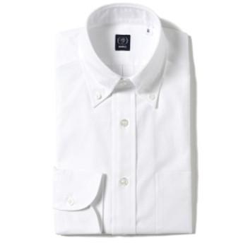 BEAMS F / ピンオックスフォード ボタンダウンシャツ メンズ ドレスシャツ WHITE/1W 43