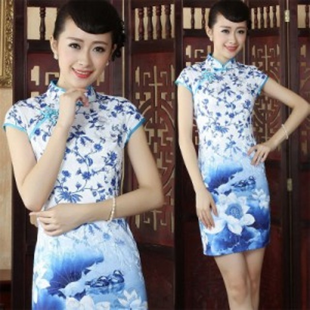 612ecca347e9b  青 ロング丈 セクシー チャイナドレス レディース ワンピース コスプレ コスチューム ファッション 衣装 中国ドレス