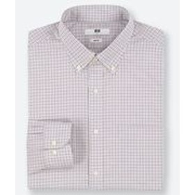 ファインクロスストレッチスリムフィットチェックシャツ(ボタンダウン・長袖)