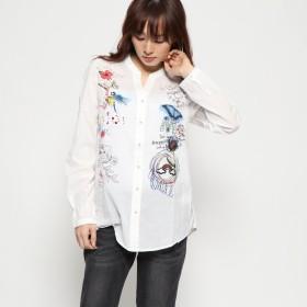 デシグアル Desigual シャツ長袖 (ホワイト)