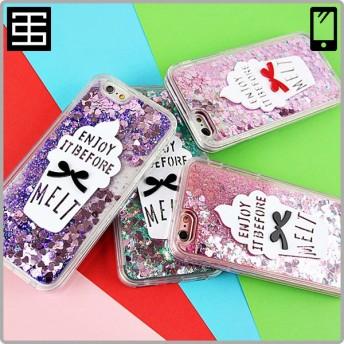 「日本国内出荷・全品送料無料」softcream ice cream ribbon glitter melt TPU iPhoneケース ソフトクリーム アイフォン ケース カバー スマホ ケース