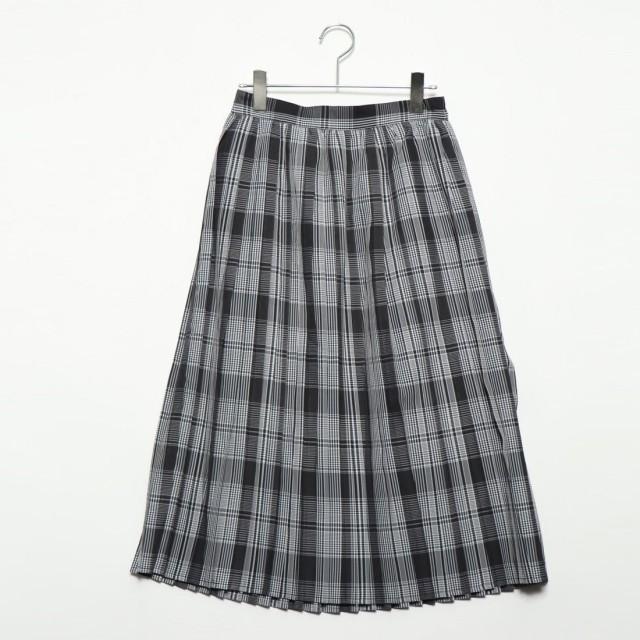 スタイルブロック STYLEBLOCK 先染めチェックプリーツスカート (ブラック)