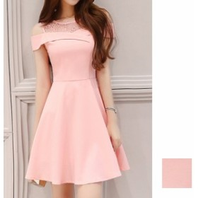 韓国 ファッション レディース ワンピース パーティードレス 結婚式 お呼ばれドレス お呼ばれワンピース ショート ミニ丈 夏 春 パーティ
