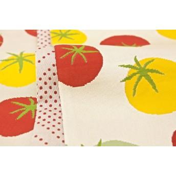 浴衣・着物の帯 - SOUBIEN 半幅帯 おりびと 織美桐 ベージュ トマト 水玉 浴衣帯 ブランド 半巾帯 日本製
