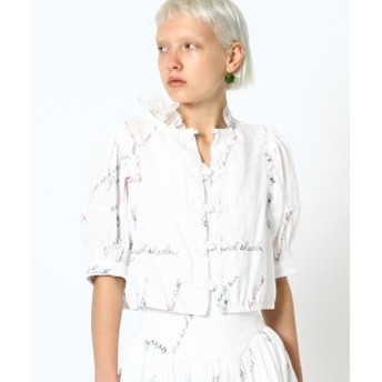 maturely / YIN-YANG Embroidery Blouse レディース カジュアルシャツ WHITE ONE SIZE