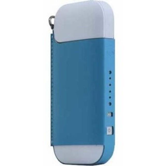ロア・インターナショナル 4589753005297 エスエルジーデザイン Calf Skin Leather iQOS Case ブルー SD11529 1コ