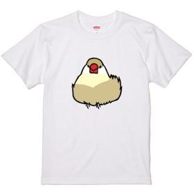 文鳥Tシャツ 「おだんご文鳥」クリーム文鳥 【受注生産】