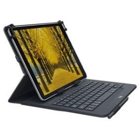 ロジクール 9〜10インチ タブレット対応キーボード付きタブレットケース 78キー英語レイアウト Logicool UNIVERSAL FOLIO uK1050 UK1050BK 返品種別A