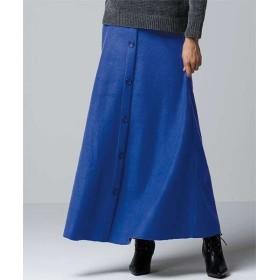 ラナン フロントボタンフレアースカート レディース ブルー LL 【Ranan】