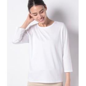 【50%OFF】 ラ ジョコンダ スーピマスムース Tシャツ レディース ホワイト 40 【LA JOCONDE】 【セール開催中】