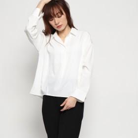 ジーラ バイ リュリュ GeeRa by RyuRyu 裾タックスキッパーシャツ (ホワイト)