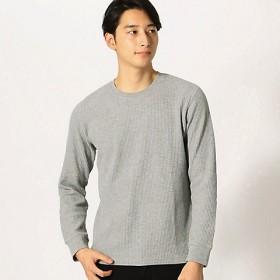 <COMME CA ISM (メンズ)> ワッフルTシャツ(4761TL02) グレー 【三越・伊勢丹/公式】