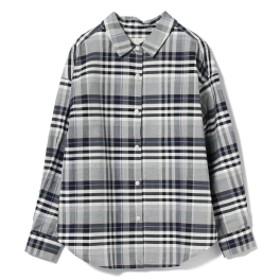 B:MING by BEAMS: カシュクールシャツ レディース カジュアルシャツ NAVY CHECK M