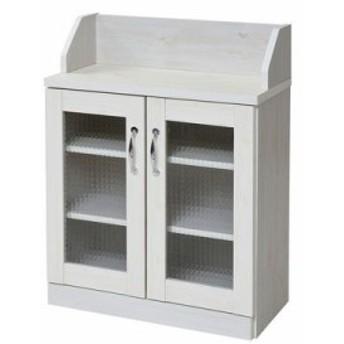 FLL-0062-WH カウンター下収納 キャビネット カントリー調 高さ80  幅60 見せる収納 キッチンカウンター下収納 カウンター下 ホワイト