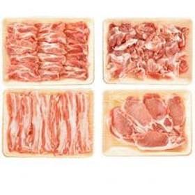 【高知県産 米豚】バラスライス&肩ロース&ローステキカツ&コマ切り落とし(合計2kg)セット