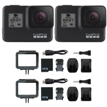 GoPro HERO7 Black ウェアラブルカメラ×2台セット