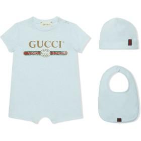 Gucci Kids Gucciロゴ コットン ベビー ギフトセット - ブルー