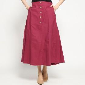 スタイルブロック STYLEBLOCK 綿プリペラフレアロングスカート (ピンク)