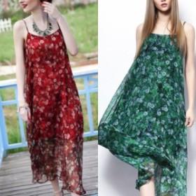 韓国 ファッション レディース ワンピース 夏 春 リゾート パーティー nalo3221 マキシワンピース リゾートワンピース ハワイ ノースリー