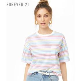 FOREVER21 フォーエバー21 【マルチボーダークルーネックTシャツ】(5,000円以上購入で送料無料)